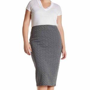 Geo Cube Pencil Skirt